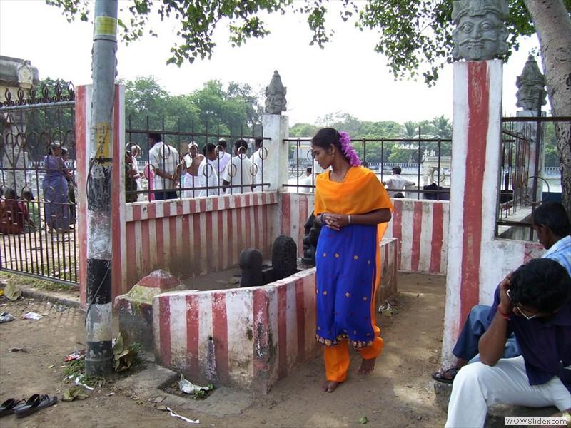 Worship of Shiva Lingam - India
