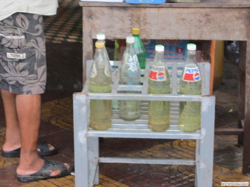gasoline in pepsi bottles - Cambodia