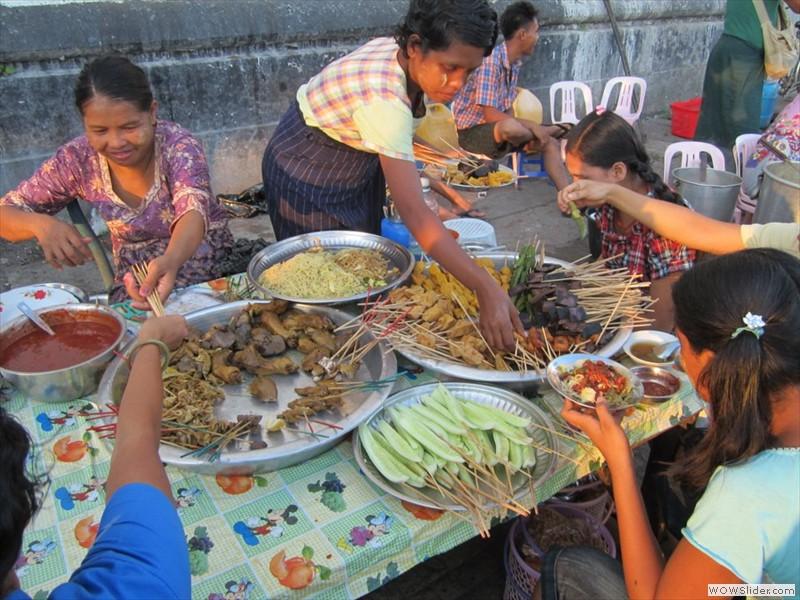 Street food - Yangon, Myanmar