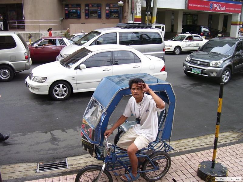 rikshaw driver - Manila, philippines